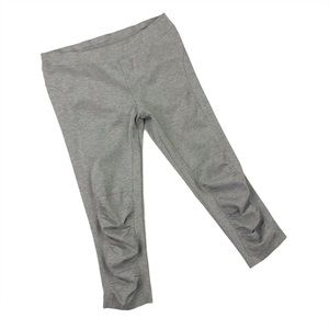 XCVI Wearables Gray Jetter Crop Ruched Pants